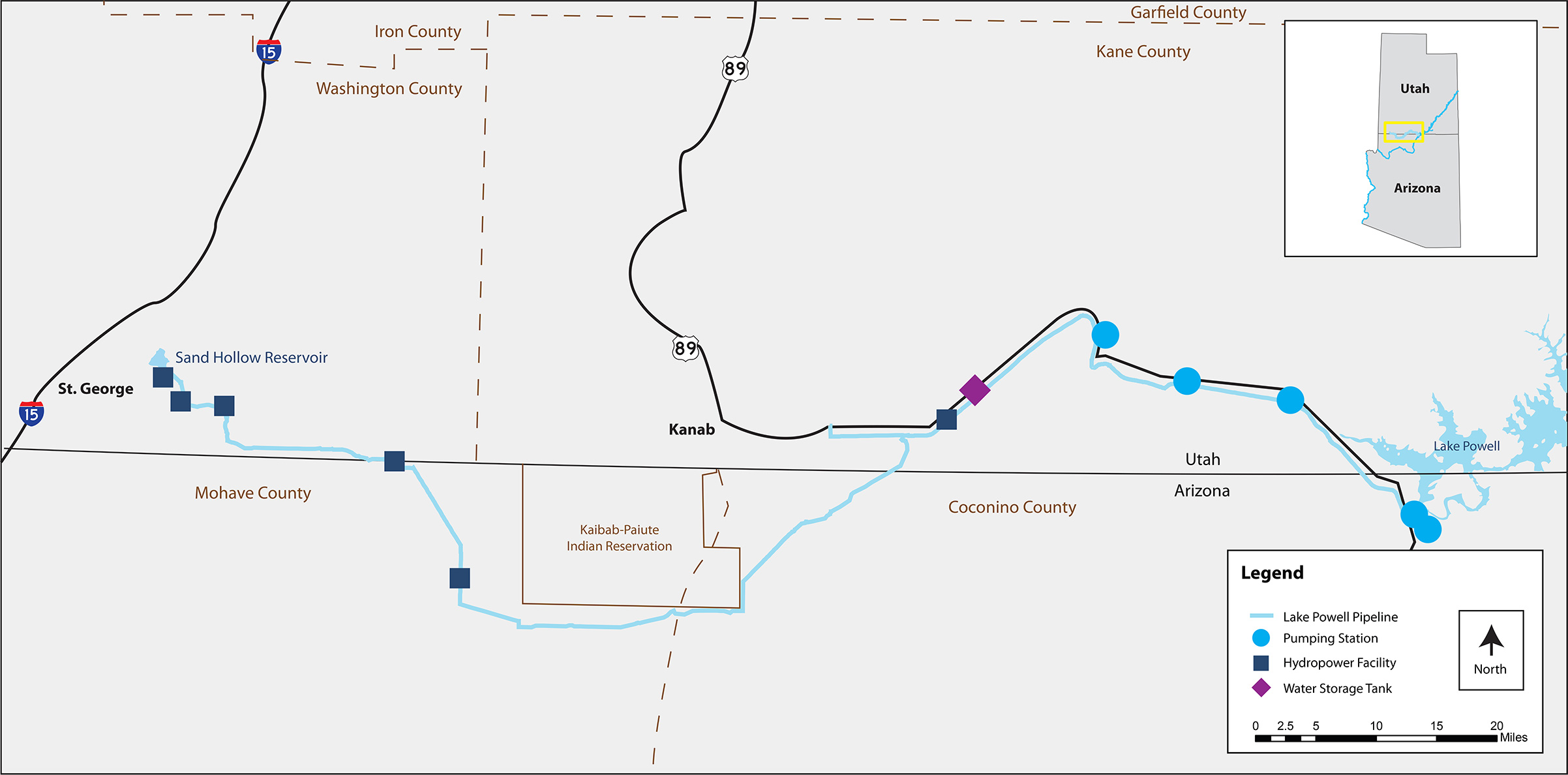Map & Components | Lake Powell Pipeline